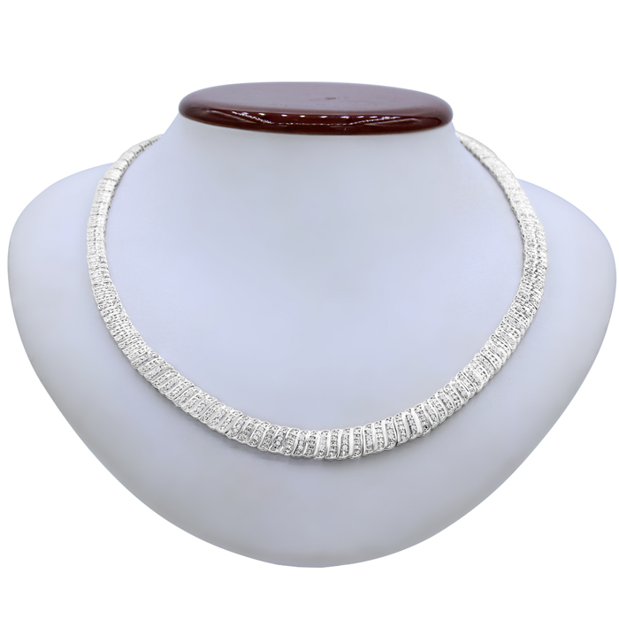 1 Carat Diamond Graduated Collar Necklace, 16 Inches