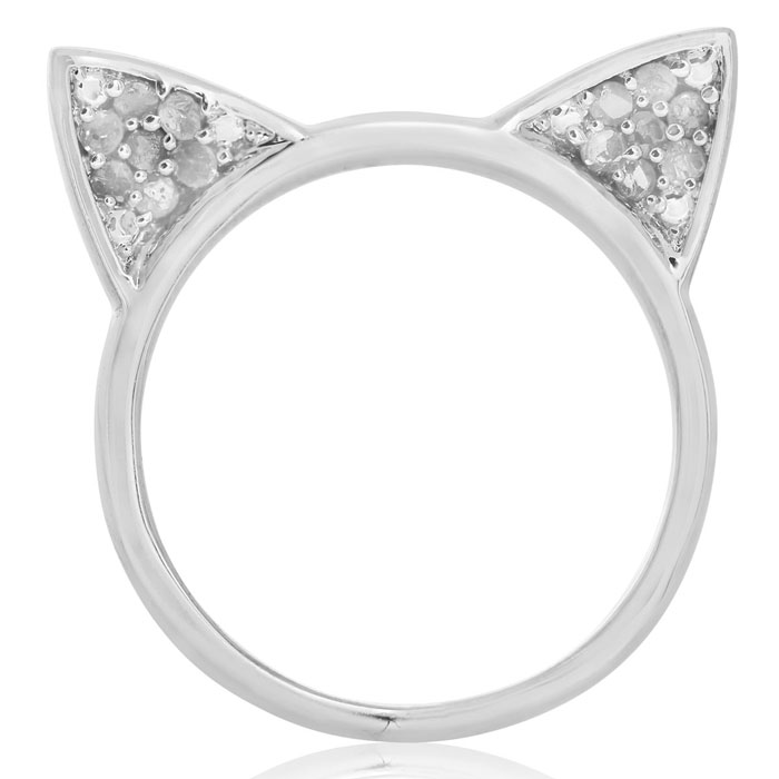 1/5 Carat Diamond Cat Ears Ring