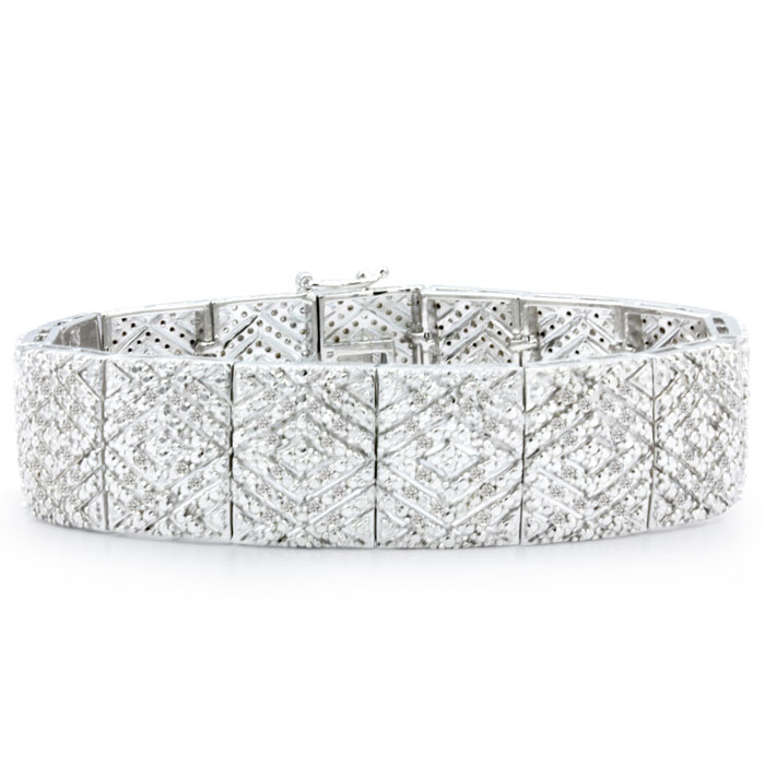 2 Carat Diamond Art Deco Bracelet, 7 Inches