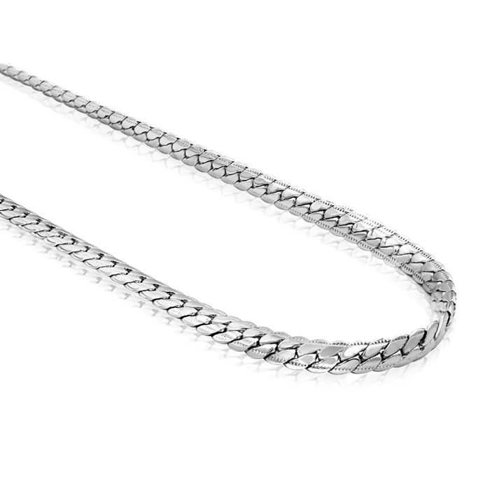 Men's 5MM Curb Chain Necklace, 20 Inches