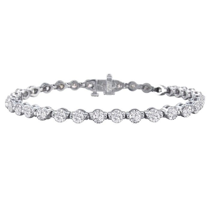 Gorgeous 7ct Diamond Tennis Bracelet in 14k White Gold