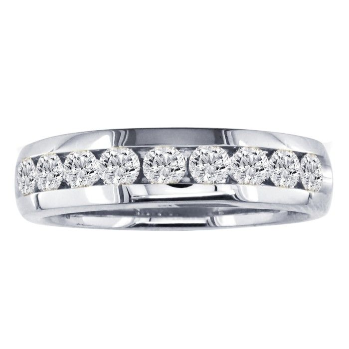 3/4ct Round 11 Diamond Band in 14k White Gold