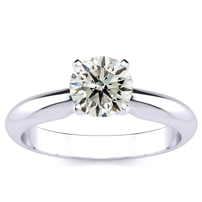 1ct Diamond Solitaire Ring in Platinum. Closeout Deal.