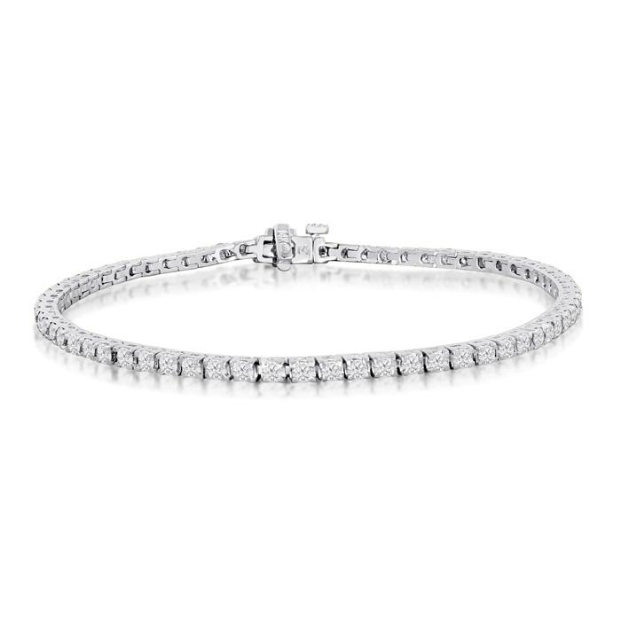 9 inch 3.85ct Diamond Tennis Bracelet in 14k White Gold