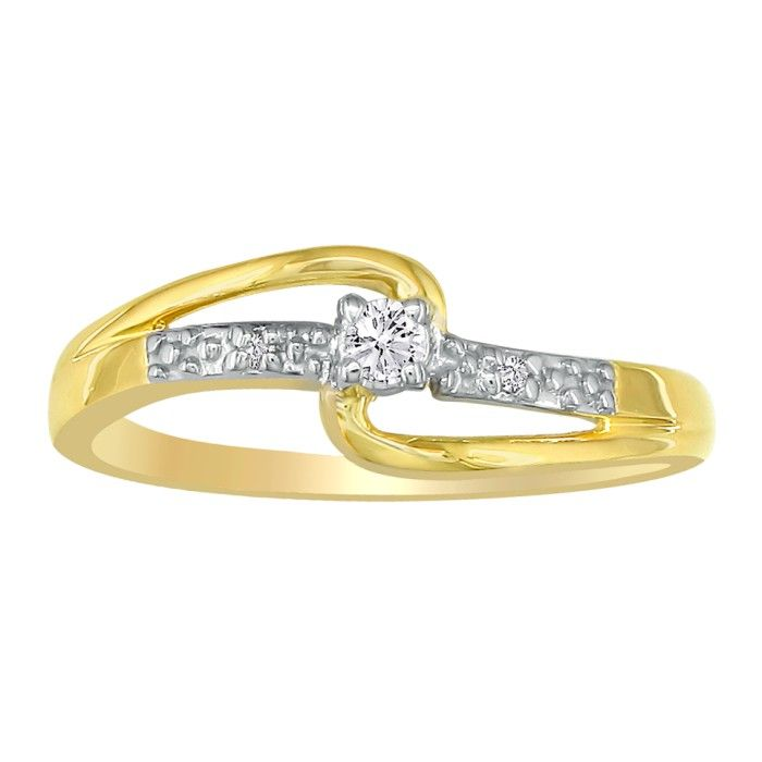 beautiful open shank 06ct promise ring in 10k