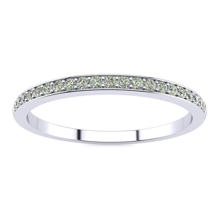 1/10ct Pave Diamond Wedding Band