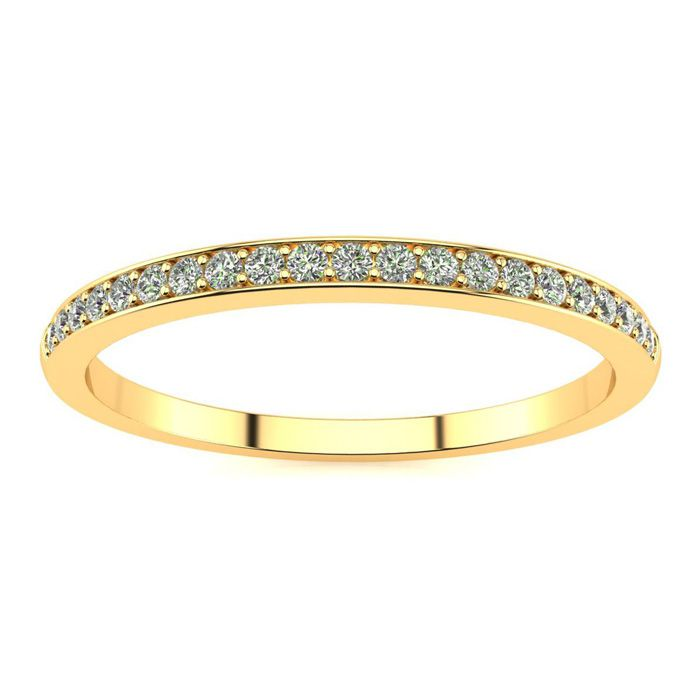 1/10ct Micropave Diamond Band in 10k Yellow Gold thumbnail
