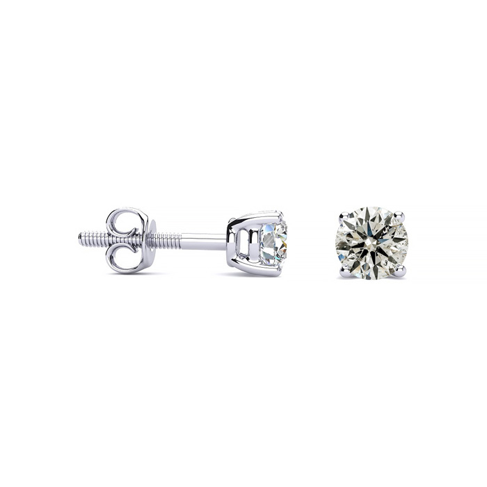 Our Most Affordable 1/2ct Diamond Stud Earrings in 14k White Gold