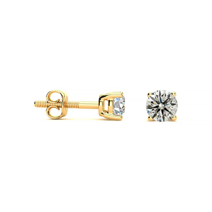 Our Most Affordable 1/2ct Diamond Stud Earrings in 14k Yellow Gold