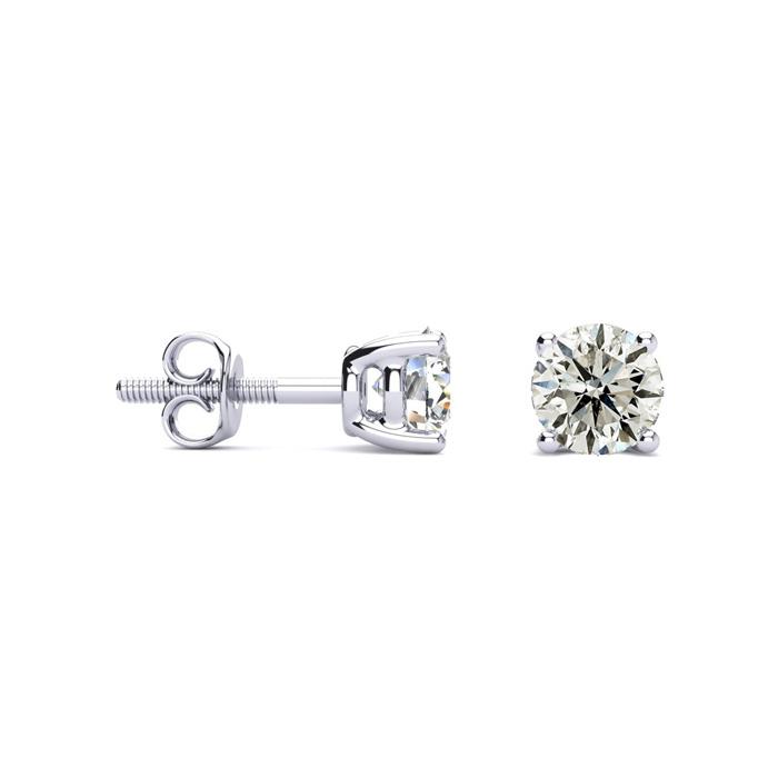 Affordable 1 1/4ct Diamond Stud Earrings In 14k White Gold