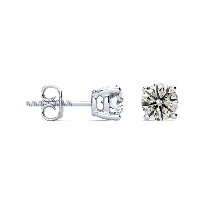 1.50ct Diamond Studs In 14k White Gold