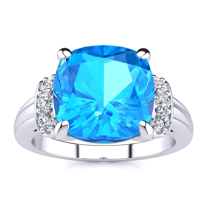 superjeweler large blue topaz and ring in