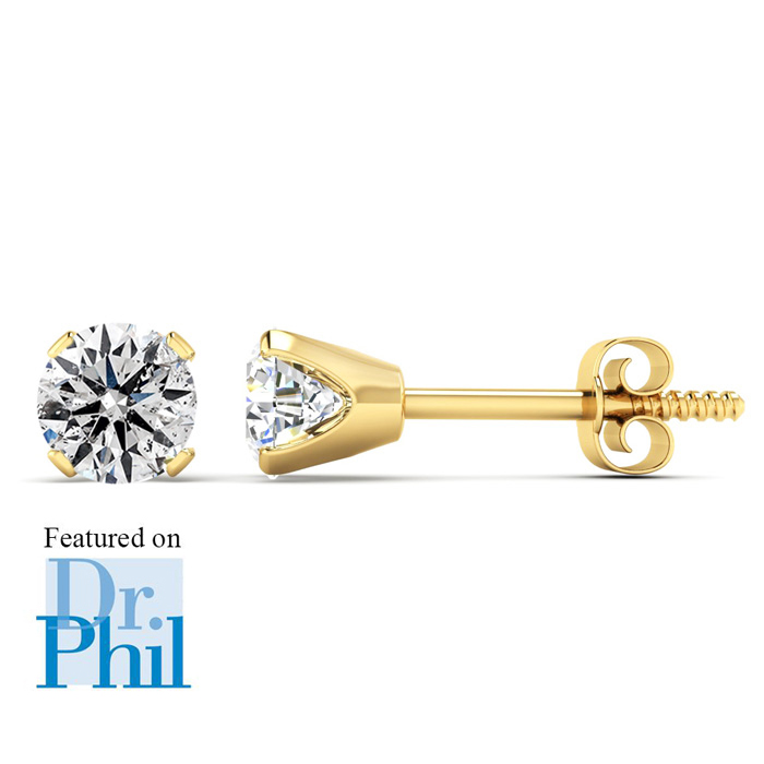 1/2ct Diamond Studs In 14k Yellow Gold