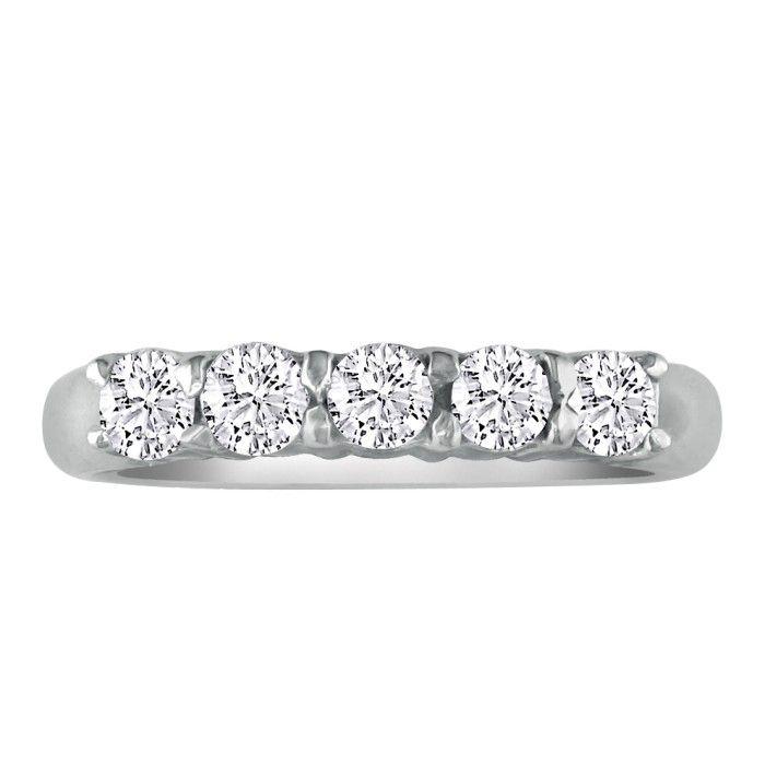 Perfect 1ct Platinum Diamond Wedding Band