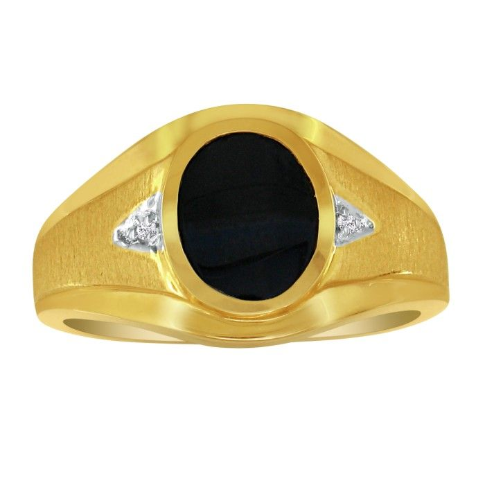 oval onyx and mens ring 10k white gold