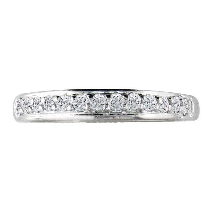 Dainty 1/6ct Diamond Wedding Band in 14k White Gold