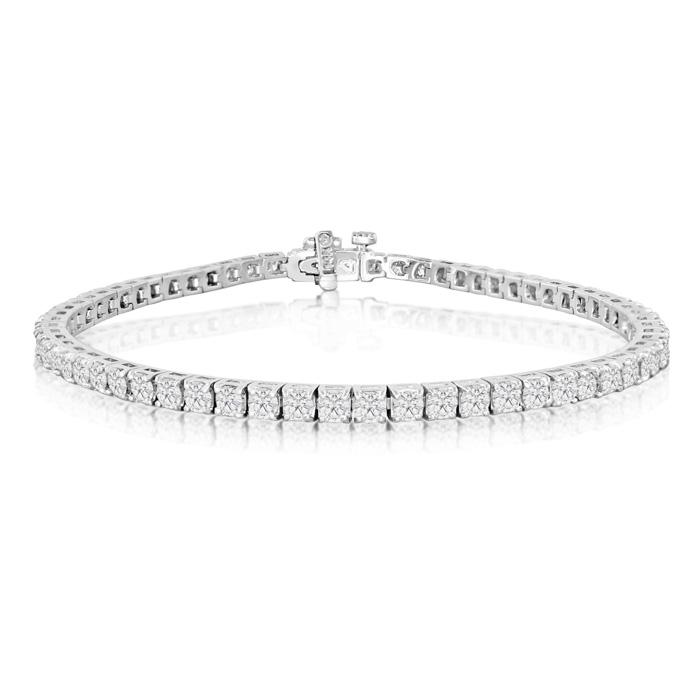 4ct Diamond Tennis Bracelet in 14k White Gold