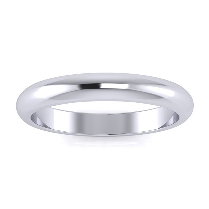925 Sterling Silver 3mm Ladies And Mens Wedding Band, Free Engraving