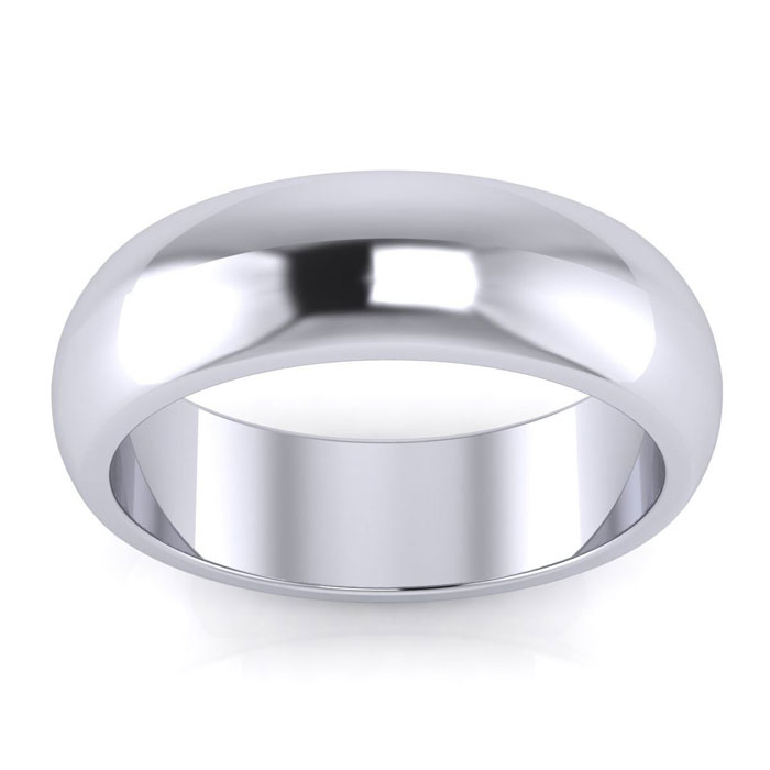 925 Sterling Silver 6mm Ladies And Mens Wedding Band, Free Engraving