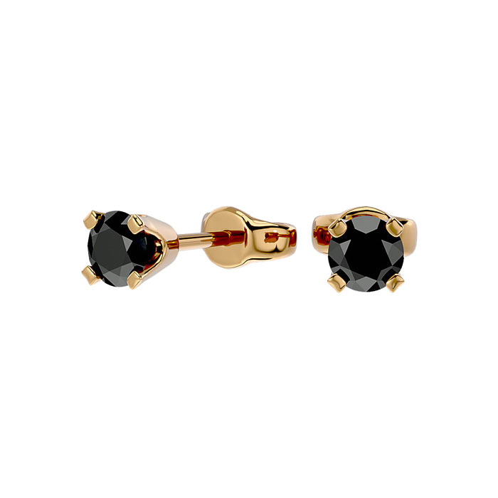 109 99 More Details 1 3ct Black Diamond Stud Earrings 14k Yellow Gold