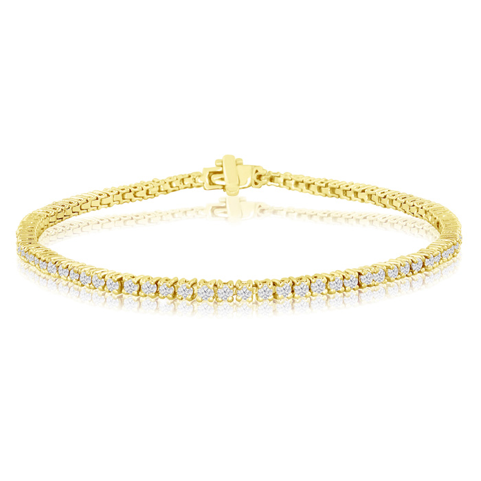 6.5-inch 1.83ct Diamond Tennis Bracelet in 14k Yellow Gold