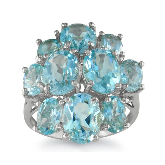 8ct blue topaz ring in 10k white gold december