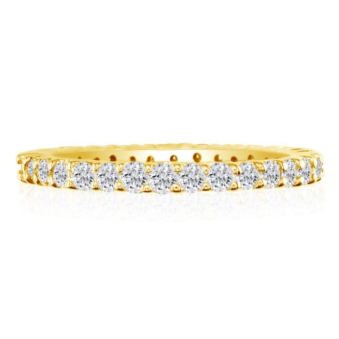 14k 1/2ct Diamond Eternity Band, Ring Sizes 4 to 9 1/2