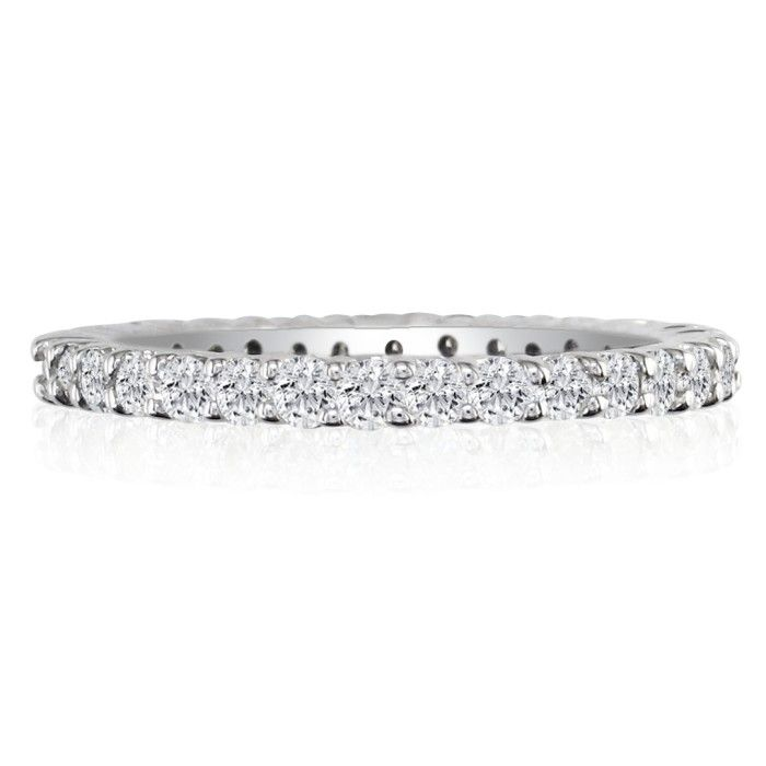 Platinum 1ct Diamond Eternity Band, GH SI, Ring Sizes 4 to 9 1/2