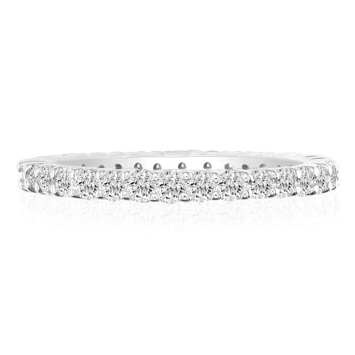Platinum 4ct Diamond Eternity Band, GH SI3, Ring Sizes 3 to 9 1/2