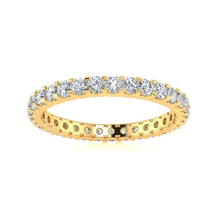 14k 1ct U-Based Diamond Eternity Band, H-I , SI2-I1, Ring Sizes 4 to 9 1/2