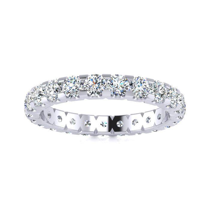 18k 2ct U-Based Diamond Eternity Band, H-I , SI1-SI2, Ring Sizes 4 to 9 1/2