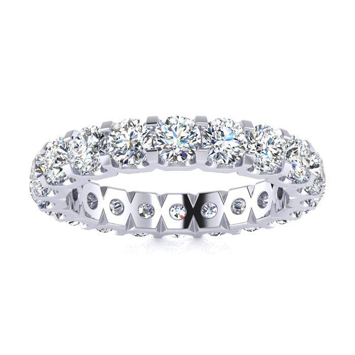 14k 3ct U-based Diamond Eternity Band, Ring Sizes 4 To 9 1/2