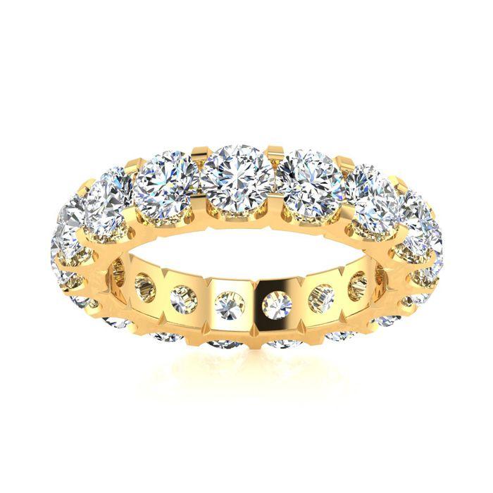 18k 4ct U-Based Diamond Eternity Band, H-I , SI1-SI2, Ring Sizes 4 to 9 1/2