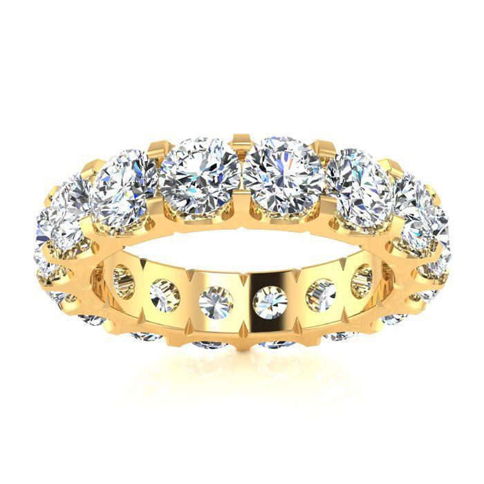 14k 5ct U-Based Diamond Eternity Band, H-I , SI2-I1, Ring Sizes 4 to 9 1/2