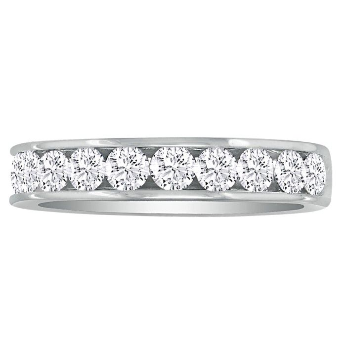 1ct Channel Set Diamond Anniversary Band in 14k White Gold