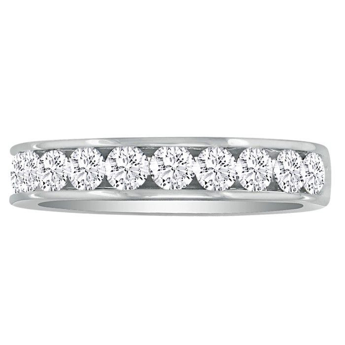 Fine 1ct Channel Set Diamond Anniversary Band in Platinum