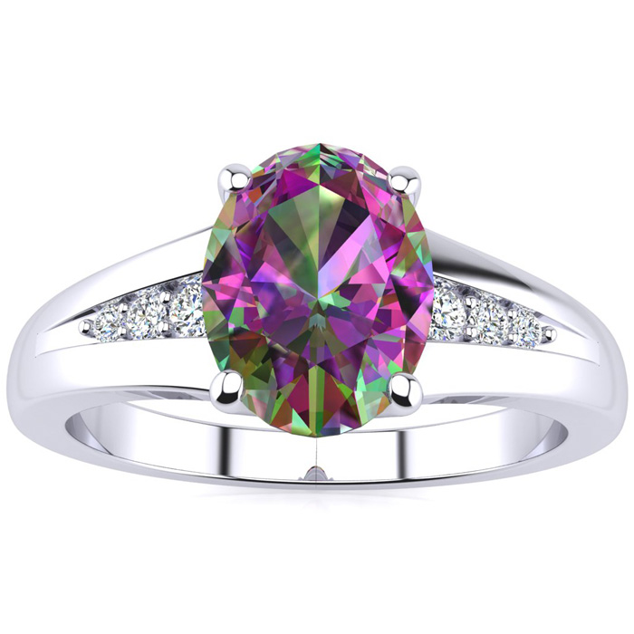1 1 2ct oval mystic topaz and ring in 10k white