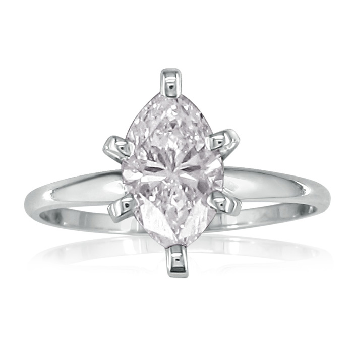 1ct marquise engagement ring white gold
