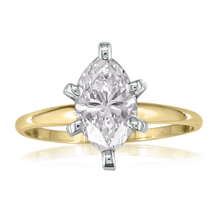 1ct marquise diamond engagement ring yellow gold available in 1 4 1