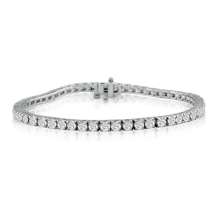 8-Inch 5.75ct Diamond Tennis Bracelet in 14k White Gold, J/K I1/I2