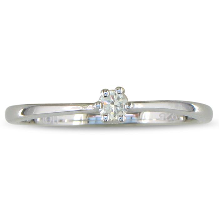 1/10ct Diamond Solitaire Ring in Sterling Silver thumbnail