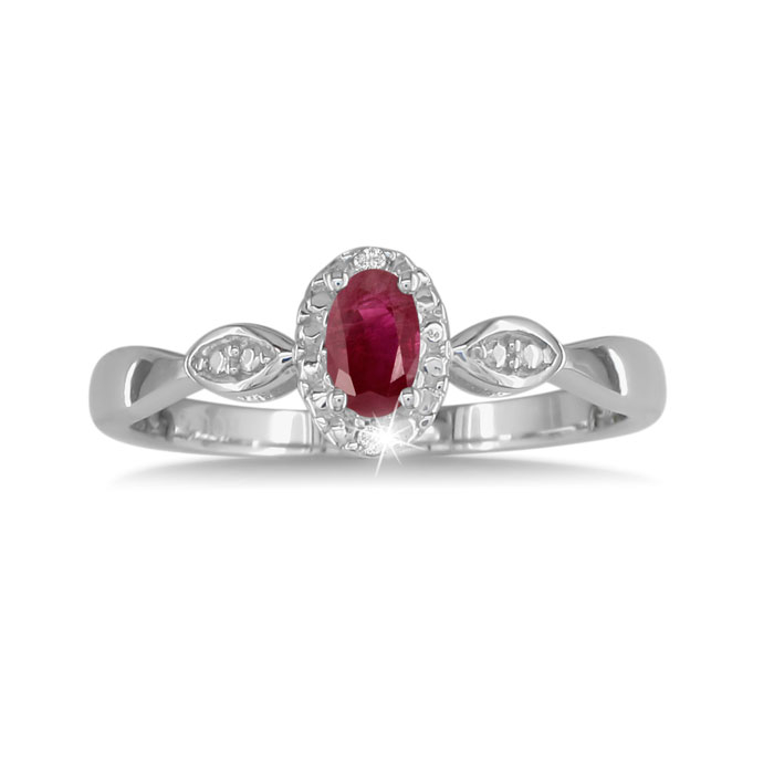 Pink Topaz And Engraved Diamond Ring In Sterling Silver