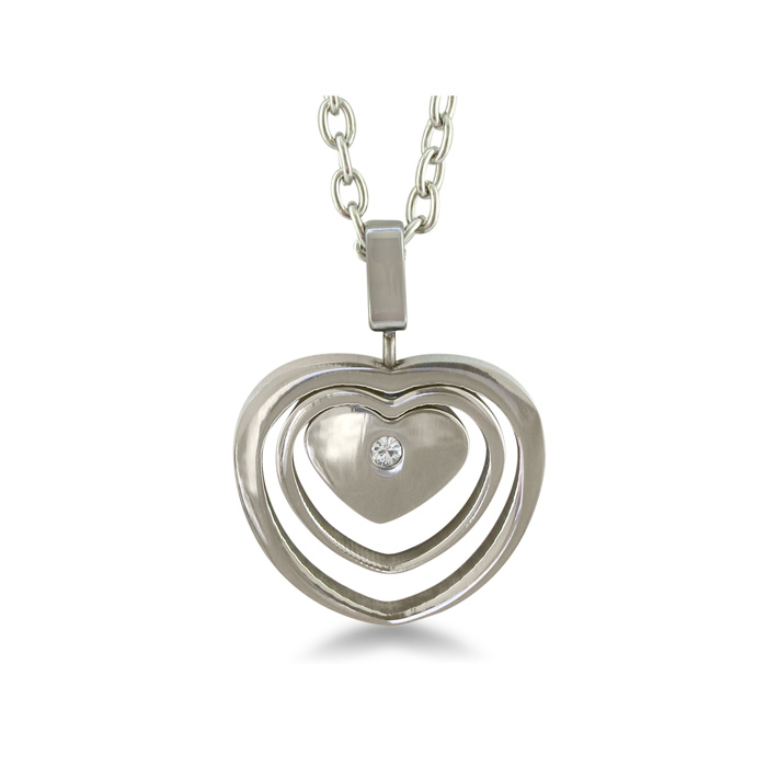 Beautiful Triple Heart Pendant Crafted in Stainless Steel