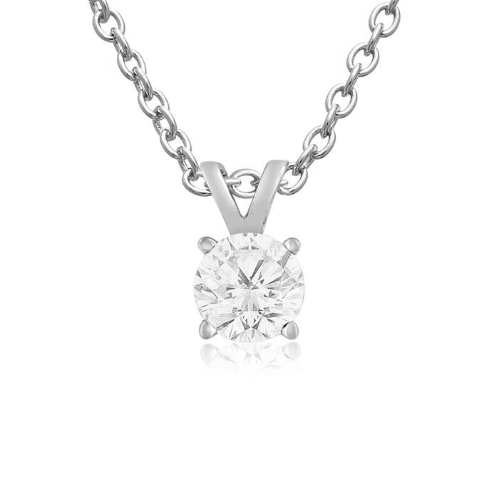 1/4ct Diamond Pendant in 14k White Gold