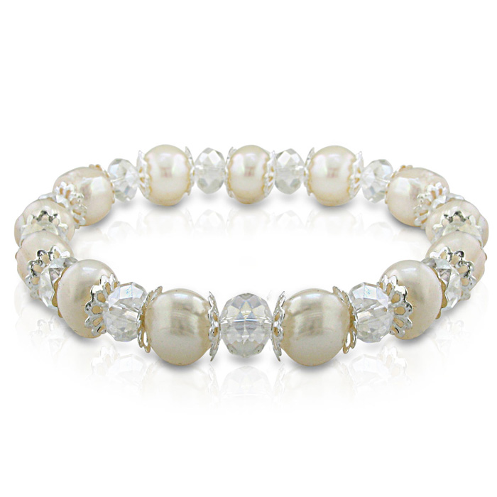 Swarovski And Pearl Bracelet- Christmas jewelry gifts