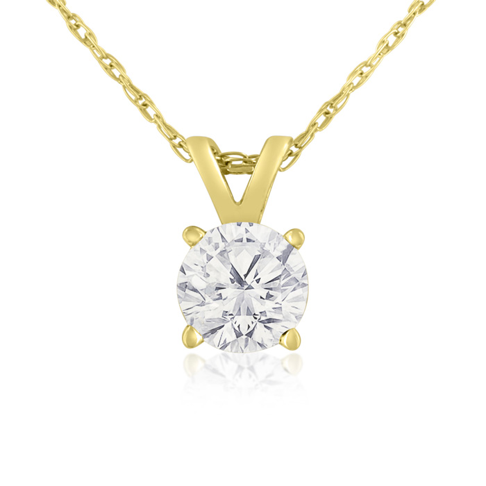 3/8ct 14k Yellow Gold Diamond Pendant