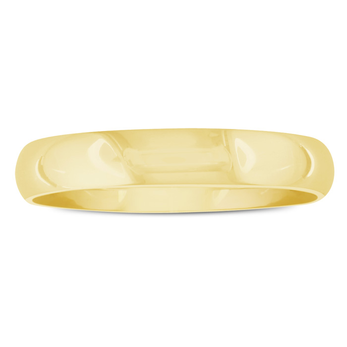 Popular 5mm 10K Yellow Gold Mens Wedding Band, Size 11.5.