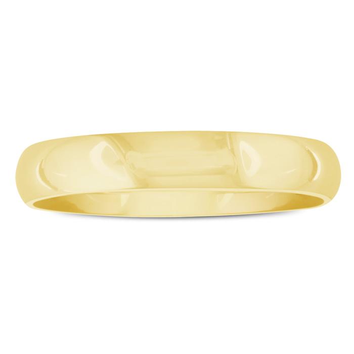 Popular 4mm 14K Yellow Gold Mens Wedding Band, Size 13