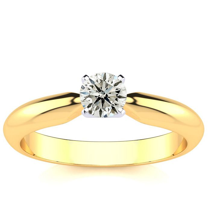 1/4ct 14k Yellow Gold Diamond Engagement Ring