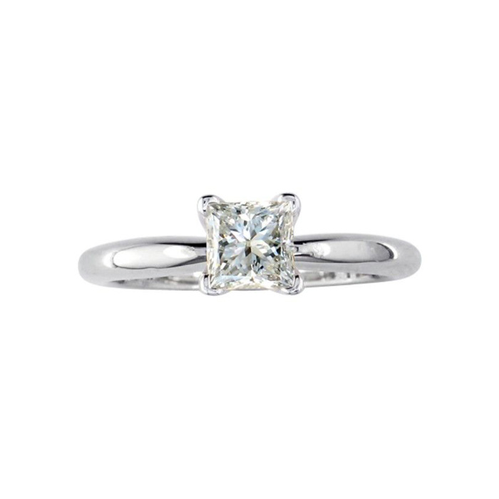 1/4ct Princess Diamond Solitaire Engagement Ring in 14kWG, G/H, SI1